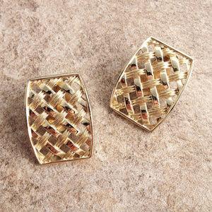 Vintage 1960 Gold Fashion Earrings